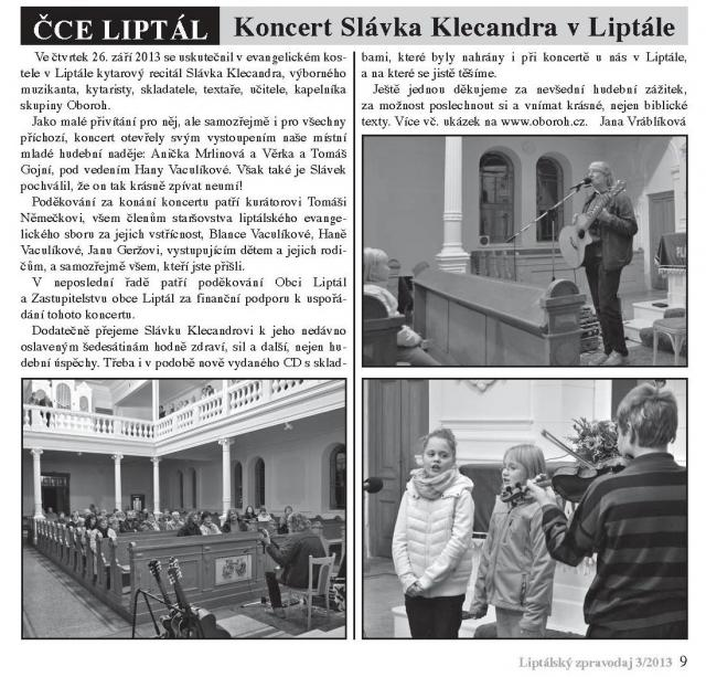 Liptálský zpravodaj 3 2013