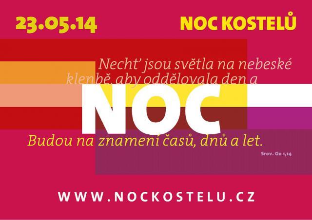 Noc kostelu 23.5.2014 plakat